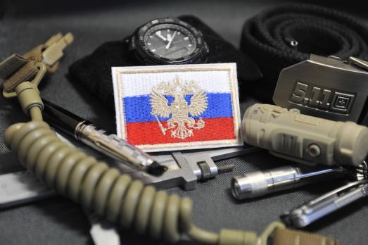 """Шеврон """"Флаг России с гербом"""""""