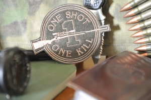"Шеврон ""ONE SHOT ONE KILL"""
