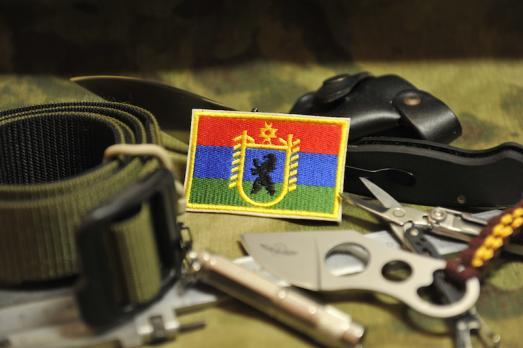 Шеврон Флаг Карелия с гербом