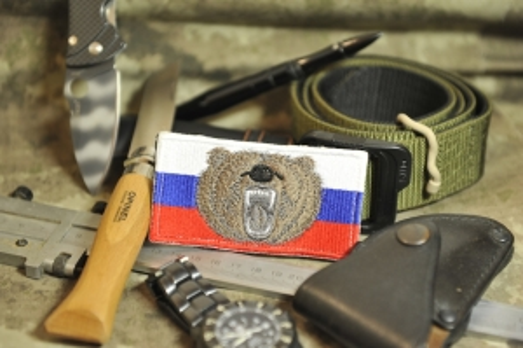 Шеврон Флаг Россия медведь