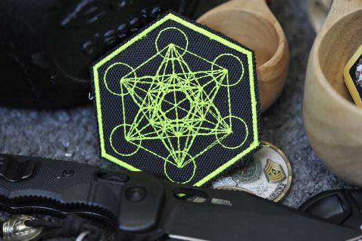"""Шеврон """"Куб Метатрона"""" Сакральная геометрия"""