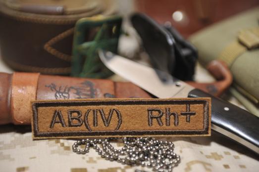 Нашивка Группа крови АВ Rh+