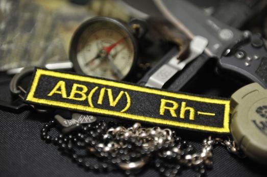 Нашивка Группа крови АВ Rh-