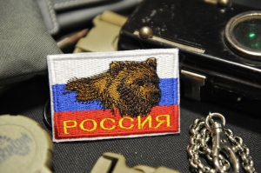 шеврон Флаг России медведь