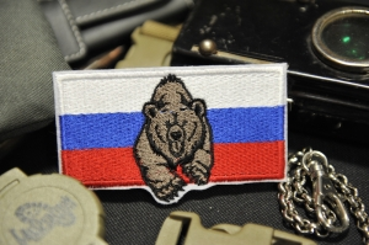 шеврон Триколор с медведем